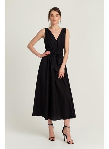 V Yaka Uzun Elbise-Setre